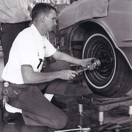 Picture of George Gates doing an alignment